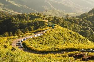 itinéraires routiers sur la montagne