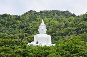 Bouddha blanc dans la montagne photo