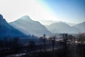 montagnes glacées du nord de la Chine photo