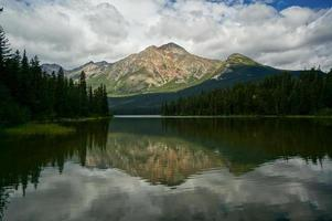 Pyramid Lake dans le parc national de Jasper photo