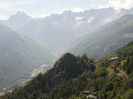l'été sur les alpes