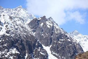 Vallée de Chopta dans le nord du Sikkim en Inde