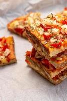 sandwich chaud en piles