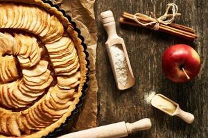 tarte aux pommes française photo