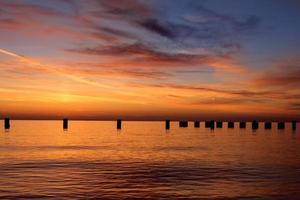 lever de soleil plage photo