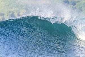 vague océanique parfaite. photo