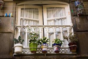 Vieille fenêtre Vigo, Espagne photo