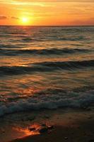 coucher / lever de soleil sur la plage