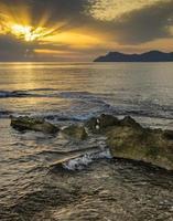 lever du soleil de Majorque photo
