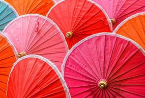 parapluies traditionnels en bambou thaï