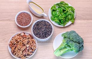 sources végétales d'acides oméga-3 photo