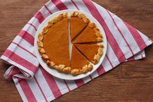 tarte à la citrouille fraîche faite pour Thanksgiving