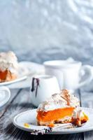 tarte à la citrouille et meringue