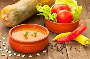 soupe de potiron au piment photo
