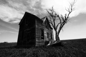 maison de ferme vide photo