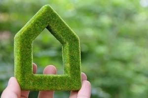 concept d & # 39; icône maison écologique photo