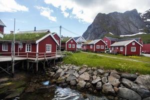 Maisons traditionnelles dans les Lofoten, Norvège