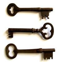 lot de 3 clés squelettes antiques photo