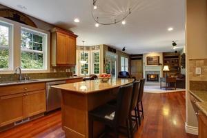 intérieur de la maison. intérieur élégant de la cuisine photo