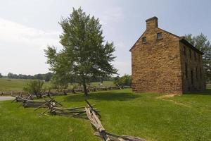 maison en pierre sur les champs de bataille de manassas photo