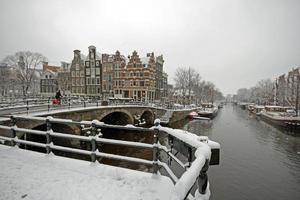 hiver à amsterdam aux pays-bas photo
