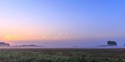 lever de soleil bavarois brumeux