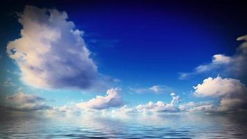 beau coucher de soleil sur la mer photo