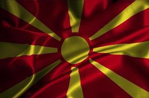 drapeau macédoine photo