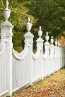 clôture blanche photo