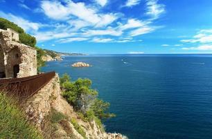 Vew du château de tossa de mar, Espagne photo