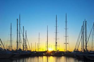 yachts à la marina de majorque photo