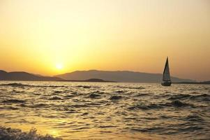 vue mer au coucher du soleil photo