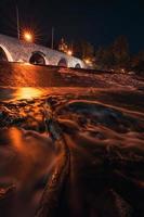 longue exposition du pont la nuit photo