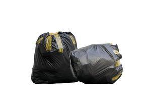 deux sacs poubelle noirs photo