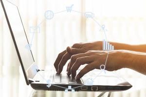 concept de technologie commerciale et de communication
