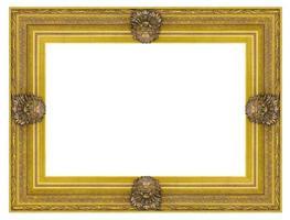cadre photo en bois doré vintage
