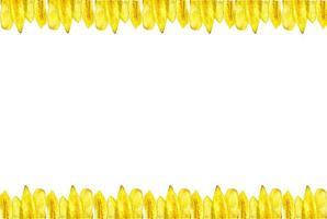 chips de banane fait des cadres photo