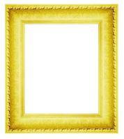 Cadre photo en plâtre vintage isolé sur blanc