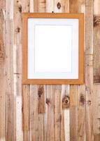 cadre photo sur planche de bois