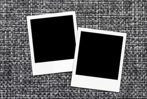 cadres photo polaroid vierges.