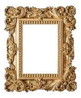 cadre photo de style baroque. objet d'art vintage en or
