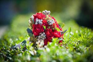 beau bouquet de fleurs lumineuses photo