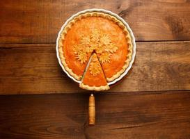 tarte à la citrouille traditionnelle américaine photo