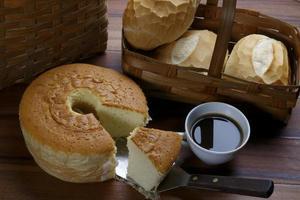 table de ferme de petit déjeuner photo