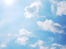 ciel avec des nuages photo