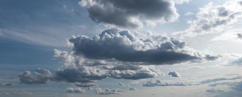 panorama du ciel dramatique. photo
