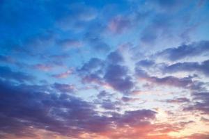 fond de ciel du soir photo