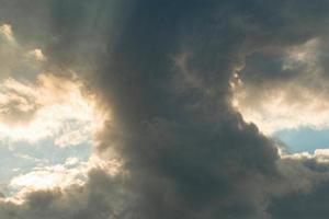 ciel et nuages. photo