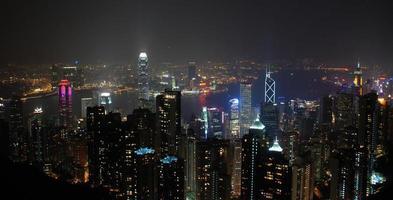 ciel nocturne de hong kong
