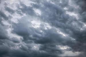 ciel dramatique avec des nuages orageux